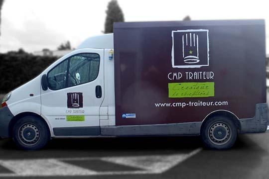 CMP Traiteur - flocage caisse frigorifique - Agraph Publicité - agence publicitaire - Melesse (35)