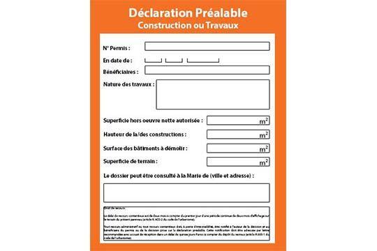 Déclaration préalable de construction ou travaux - Agraph Publicité - agence publicitaire - Melesse (35)