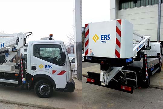 ERS FAYAT - flocage adhésif véhicule - Agraph Publicité - agence publicitaire - Melesse (35)