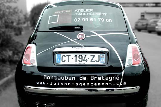 Loison Agencement - flocage décor véhicule - Agraph Publicité - agence publicitaire - Melesse (35)