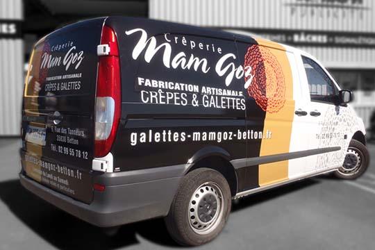 Mam Goz - habillage utilitaire - Agraph Publicité - agence publicitaire - Melesse (35)