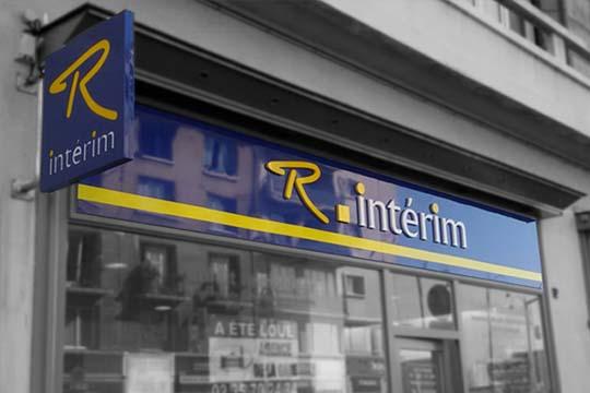 Régional-Intérim-enseigne-dibond-lettres-découpées-Rouen