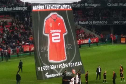 Stade Rennais toile tendue grand format - Agraph Publicité - agence publicitaire - Melesse (35)