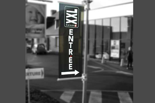 XXL bâche directionnelle - Agraph Publicité - agence publicitaire - Melesse (35)