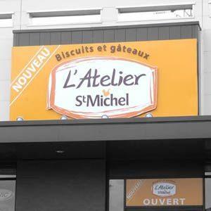 L'Atelier Saint Michel - enseigne - Agraph Publicité - agence publicitaire - Melesse (35)