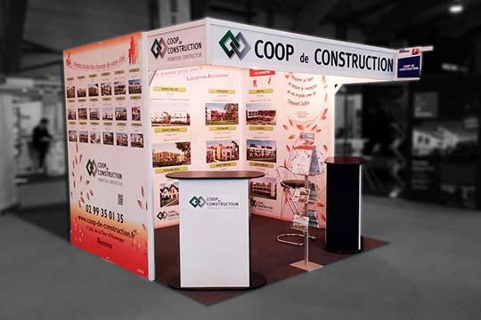 Coop de Construction - stand - Agraph Publicité - agence publicitaire - Melesse (35)