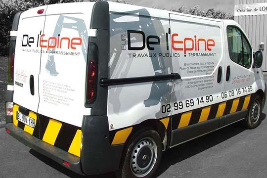 DE l'Epine - décor véhicule - Agraph Publicité - agence publicitaire - Melesse (35)