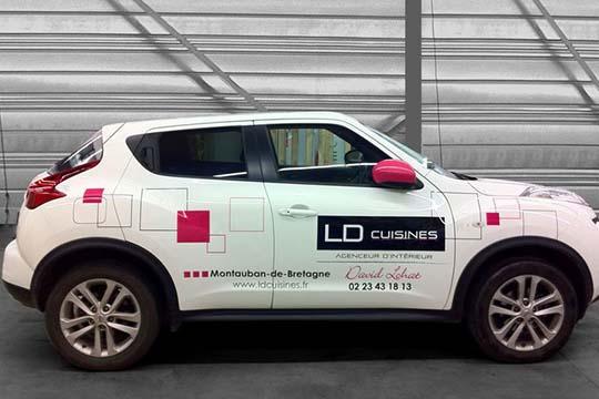 LD Cuisines - décor véhicule - Agraph Publicité - agence publicitaire - Melesse (35)
