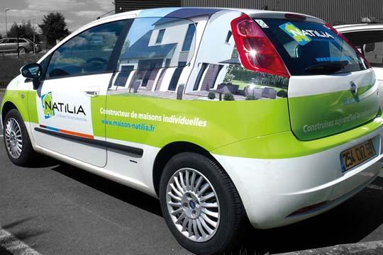Natilia - décor véhicule - Agraph Publicité - agence publicitaire - Melesse (35)