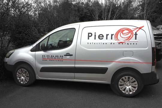 Pierrot - décor véhicule - Agraph Publicité - agence publicitaire - Melesse (35)