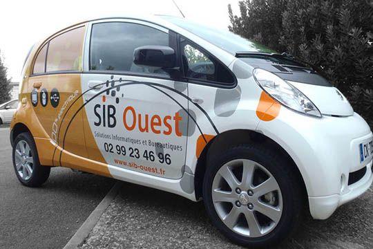 Sib Ouest - décor véhicule - Agraph Publicité - agence publicitaire - Melesse (35)