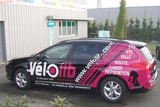 Vélolib - décor véhicule - Agraph Publicité - agence publicitaire - Melesse (35)