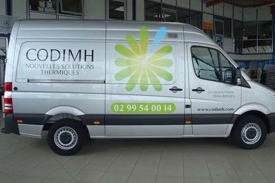 Codimh - décor véhicule - Agraph Publicité - agence publicitaire - Melesse (35)