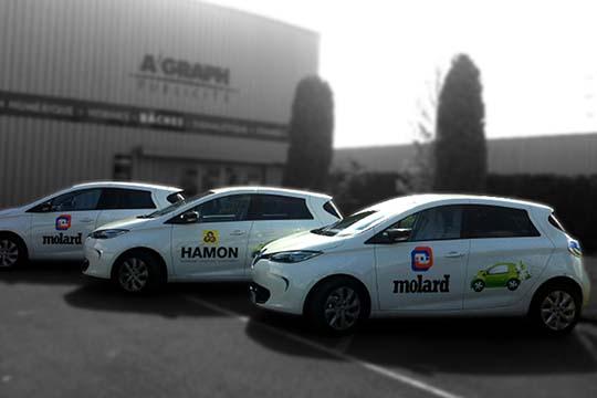 Hamon - Molard - adhésif sur flotte de véhicules - Agraph Publicité - agence publicitaire - Melesse (35)