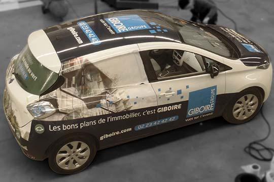 Groupe Giboire - total covering flotte des véhicules - Agraph Publicité - agence publicitaire - Melesse (35)
