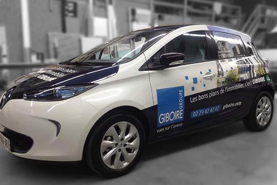 Groupe Giboire - total covering flotte de véhicules - Agraph Publicité - agence publicitaire - Melesse (35)