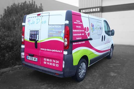 Jo Déco - flocage véhicule microperforé - Agraph Publicité - agence publicitaire - Melesse (35)