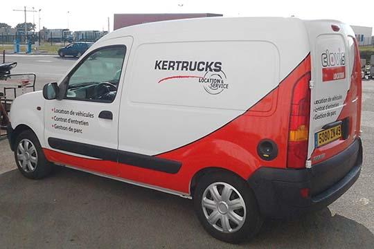 Kertrucks - flocage véhicule - Agraph Publicité - agence publicitaire - Melesse (35)