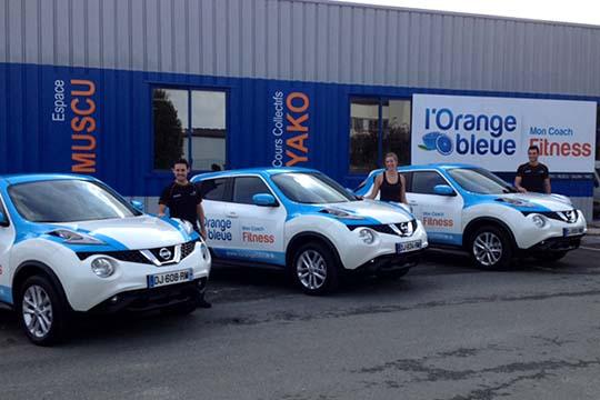 L'Orange Bleue Fitness - total covering flotte de véhicules - Agraph Publicité - agence publicitaire - Melesse (35)