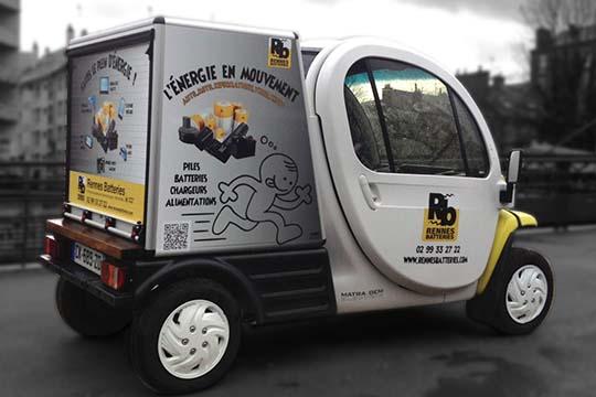 Rennes Batterie - flocage véhicule - Agraph Publicité - agence publicitaire - Melesse (35)