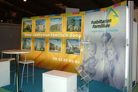 Habitation Familiale - stand - Agraph Publicité - agence publicitaire - Melesse (35)