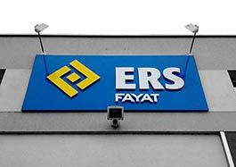 ERS FAYAT - enseigne lettres découpées - éclairage par spots - Agraph Publicité - agence publicitaire - Melesse (35)