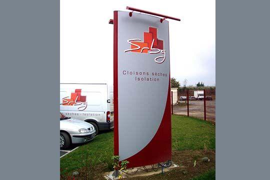 SRBG - totem institutionnel - - Agraph Publicité - agence publicitaire - Melesse (35)